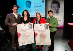 v.l.n.r.: Florian Pornold, Iris Berben, Ursel Kirmeier und Micky Wenngatz