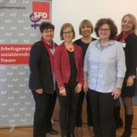 Micky Wenngatz, Landesvorsitzende, und Katja Reitmaier, stv. Landesvorsitzende sowie die Referentinnen der SoFIA-Konferenz